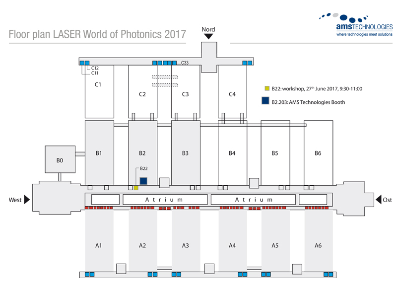 Fllor plan Laser World of Photonics 2017 Conference room B22