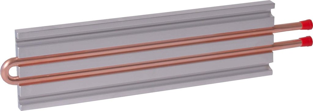 Number Plate Suppliers >> CP10G05 Aluminum Cold Plate with 2-Pass Copper tube, straight fittings   AMS Technologies