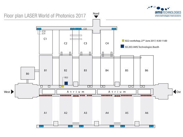 Floor plan LASER World of PHOTONICS 2017