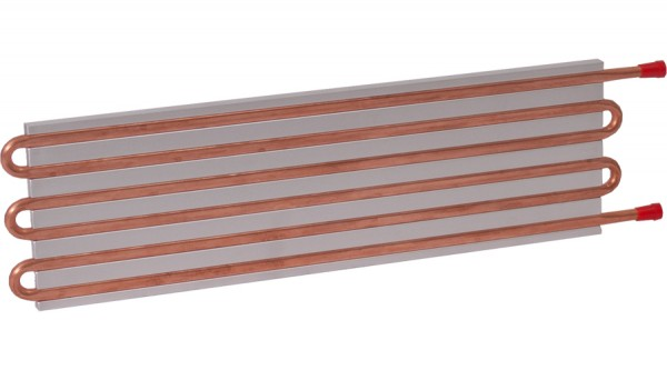 CP15G05 Aluminum Cold Plate with 6-Pass Copper tube, straight fittings