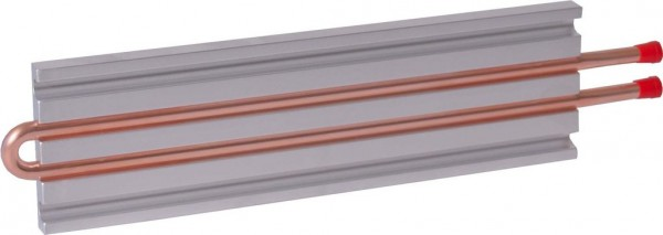 CP10G05 Aluminum Cold Plate with 2-Pass Copper tube, straight fittings