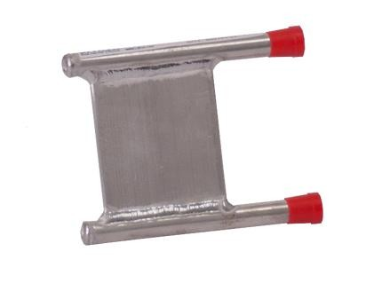 CP20G02 Aluminum Cold Plate with U shaped Aluminum tube, beaded fittings