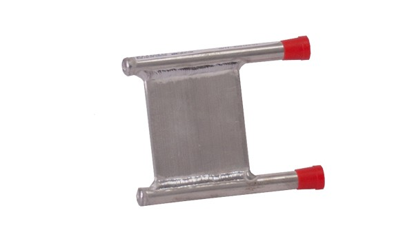 CP20G01 Aluminum Cold Plate with U shaped Aluminum tube, straight fittings