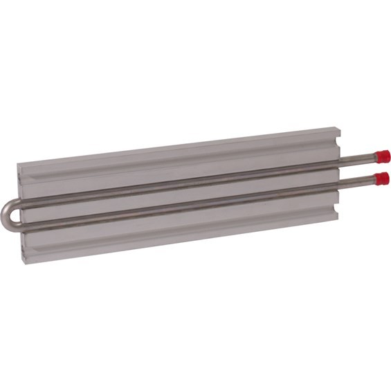 CP10G07 Aluminum Cold Plate with 2-Pass Stainless Steel tube, straight fittings Lytron-Aavid-Boyd